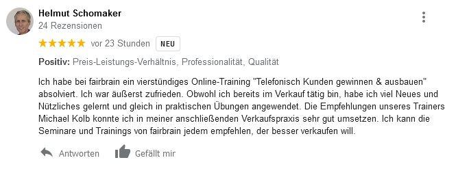 telefontraining online Vertrieb