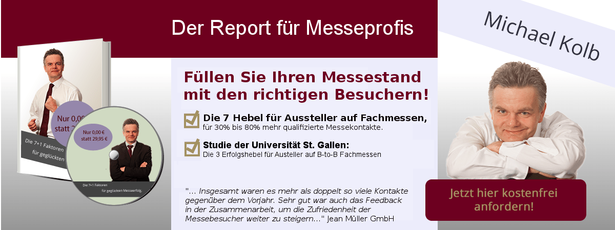 Messe agentur Messetrainings
