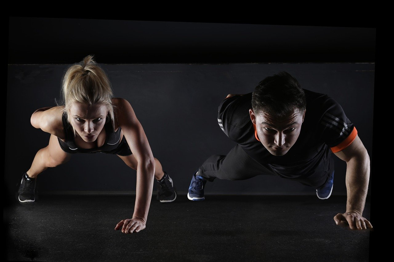 sport, push-up, strength training